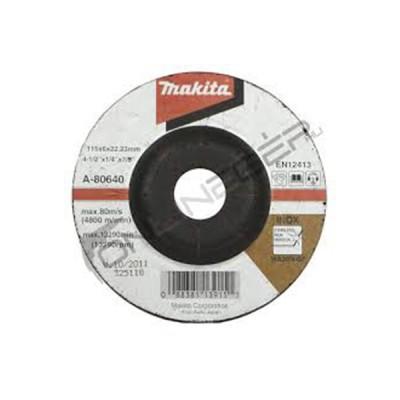 csiszolótárcsa inox 115x6mm (makita a-80640)