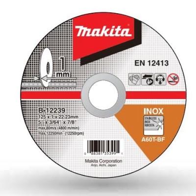 vágókorong inox 125x1mm (makita b-12239)