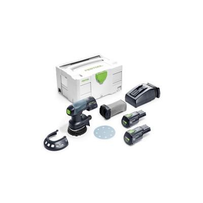 festool etsc 125 li 3,1 i-plus akkus excentercsiszoló 575719 (2db 18v 3,1ah akku+töltő+systainer)