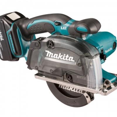 makita dcs552rtj akkus fémvágó körfűrész 136mm 18v/2x5.0ah akkukkal, töltővel, makpac kofferrel