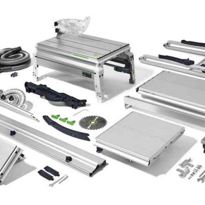 festool precisio cs 50 ebg-set asztali vonófűrész 574772 (asztalhosszabbító + asztalszélesítő + felhajtható lábak + elszívó készlet)