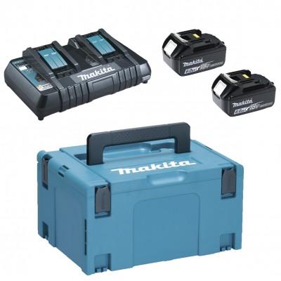 makita 18v lxt li-ion 2x6,0ah akku + dc18rc töltő készlet + makpac koffer
