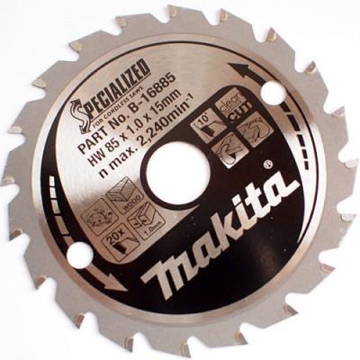 körfűrészlap specialized akkus 85/15mm z20 (makita b-16885)