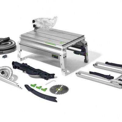 festool precisio cs 50 ebg asztali vonófűrész 574765 (felhajtható lábak + elszívó készlet)