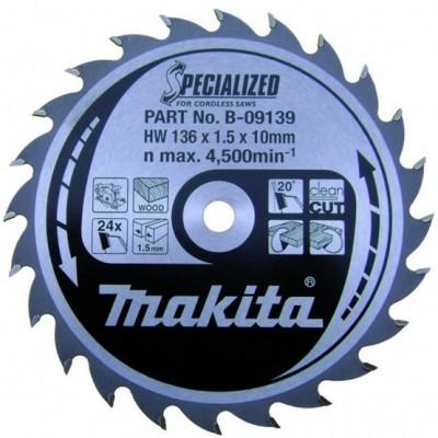 körfűrészlap specialized akkus 136/10mm z24 (makita b-09139)