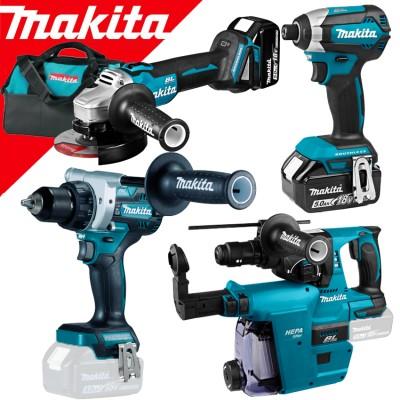 makita dlx4155tx1 akkus gépszett 18v (lxt) (szénkefementes motor) (ddf486+dga504+dhr243+dtd153+dx07)