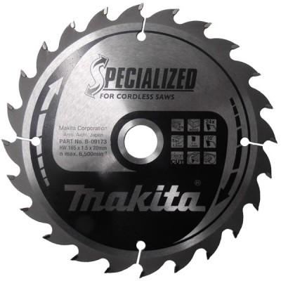 körfűrészlap specialized akkus 165/20mm z24 (makita b-09173)